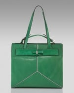 Hanna's green bag at Neiman Marcus