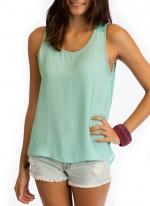 Sheer light blue top like Emilys at Go Jane