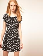 Bird print dress like Spencers at Asos