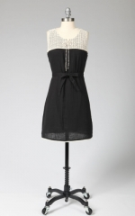 Spencers black and white crochet dress at Tulle