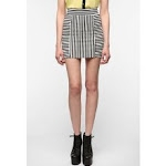 Black and white striped skirt like Arias at Urban Outfitters