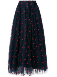 417 P A R O S H  Lip Embroidered Tulle Skirt - Buy Online - Fast Delivery  Price  Photo at Farfetch