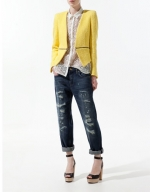 Jane's yellow blazer at Zara