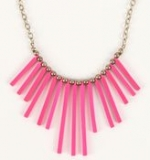Pink spiked necklace at Pacsun