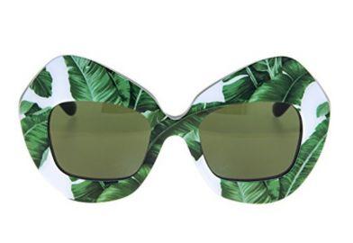 4290 Botanical Garden Banana Leaf Green Sunglasses by Dolce & Gabbana at Amazon