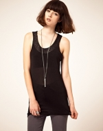 Black tank top  with buckle detail at Asos