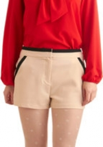 Contrast trim shorts at Modcloth