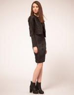 Cropped leather jacket like Janes at Asos