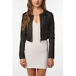 Cropped leather jacket like Janes at Urban Outfitters