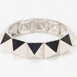 Silver stud bracelet at Urban Outfitters