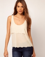 Scalloped tank top like Spencers at Asos