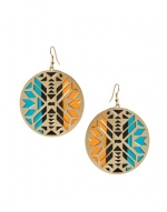 Hanna's orange and blue earrings at Asos