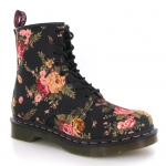 Aria's floral boots at Amazon