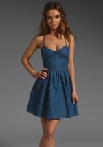 Emily's blue dress at Revolve
