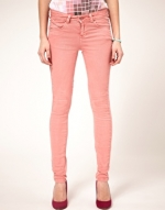 Orange/peach jeans like Hannas at Asos