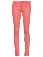Hanna's coral jeans at Farfetch