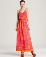 Cece's orange and pink maxi dress at Bloomingdales