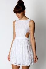 White open back dress like Arias at Boohoo
