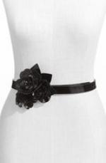Aria's black flower belt at Nordstrom