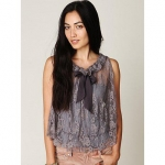 Hanna's lace tie top at Free People