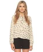 Bird print blouse like Spencers at Forever 21