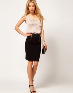 Black skirt with zip detail like Hannas at Asos