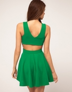 Green dress with cutout back like Arias at Asos
