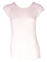 Spencer's white petal sleeve top at Amazon