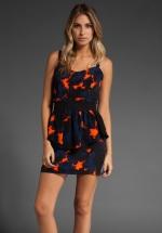 Aria's peplum dress at Revolve