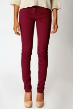 Dark red jeans like Emilys at Boohoo
