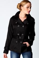 Black coat like Hannas at Boohoo