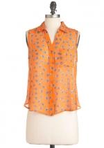 Similar orange top at Modcloth