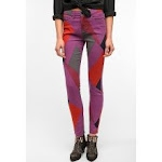 Geometric print jeans at Urban Outfitters