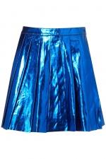 Aria's blue metallic skirt at Topshop