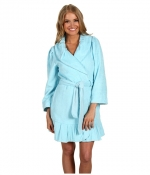 Similar blue robe with ruffles at Zappos