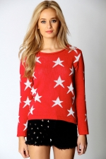 Red star sweater like Mindys at Boohoo