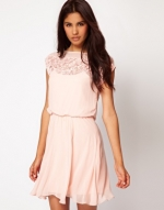 Peach dress like Lemons at Asos