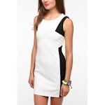 Black and white shift dress at Urban Outfitters
