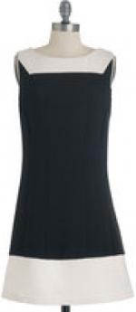Black and white shift dress at Modcloth