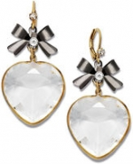 Sugar's heart and bow earrings at Macys