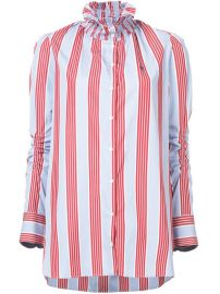 480 Carven Striped High Neck Blouse - Buy Online - Fast Delivery  Price  Photo at Farfetch