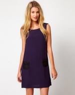 Purple shift dress at Asos