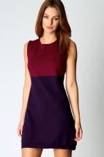 Purple shift dress at Boohoo