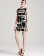 Tina's check dress at Bloomingdales