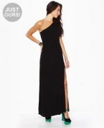 Black one shoulder dress at Lulus