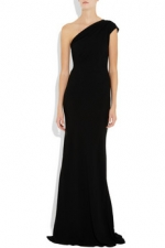 Black one shoulder gown at Net A Porter