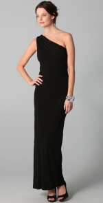 Black one shoulder gown like Robins at Shopbop