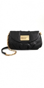 Rachel's black bag with gold chain at Shopbop
