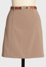 Taupe skirt at Ruche