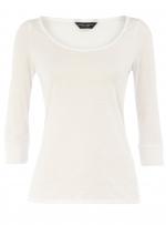 Basic white top like Rachels at Dorothy Perkins